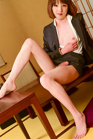 Mari Sora turns up the temperature in her slutty business woman attire - taking a sneaky break from her Tokyo city job, she decides to indulge in some boardroom