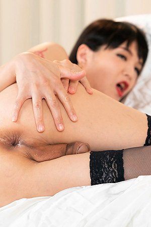 Yoko is fingering and toying her ass-pussy in this intense scene.
